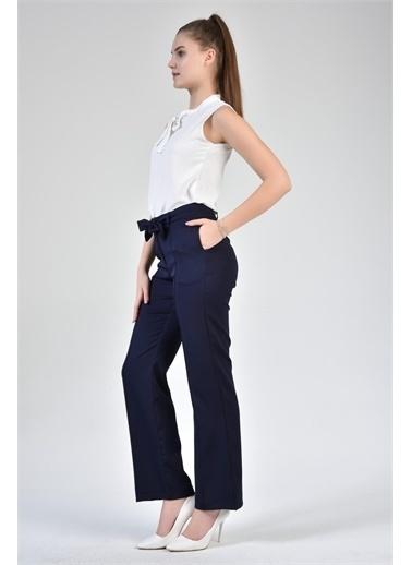 Rodi Jeans Kadın Çımalı Bol Paça Kumaş Pantolon DS21YB014082 Lacivert
